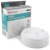 Aico EI3018 Carbon Monoxide Alarm, Mains, 10Yr Lithium Back-up Easi-fit Base