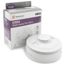 Aico EI3024 Alarm, Fire Multi-Sensor Mains, 10Yr Lithium Back-up Easi-fit Base