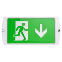 Kosnic ESGN0305R65 Manot 6500K IP65 Multi-Purpose LED Surface or Recessed Emergency Exit Bulkhead for Walls or Ceilings - Buy online or in store from John Cribb & Sons Ltd