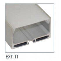 Power LED EXT11 Recessed Mounted Flexible Strip Extrusion, Size: 55x32mmx1mm