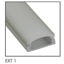 Power LED EXT1 Extrusion, Low Profile Kit, Size:	17x7mmx1m