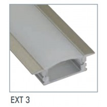 Power LED EXT3 Recessed Mounted Flexible Tape Extrusion, Dimensions: 1000 x 17.3 x 7mm