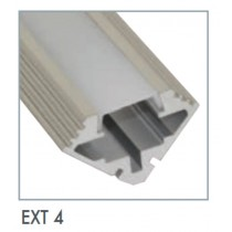 Power LED EXT4 Corner Mounted Flexible Tape Extrusion, Dimensions 1000 x 19 x 19mm