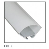 Power LED EXT7 Surface Mounted Flexible Strip Extrusion, Size: 29.7x29.7mmx1m