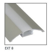 Power LED EXT8 Surface Mounted Flexible Strip Extrusion, Size: 56.7x8.47mmx1m