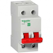 SCHNEIDER ELECTRIC, EZ9S16291, Switch Disconnector, DP, Size: 100A 400V
