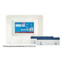 CHANNEL SAFETY SYSTEMS, VERITAS 2, F/CHVS2/2Z 2 Zone panel and batteries