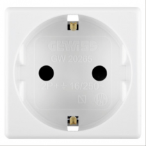 Gewiss GW20265 German Socket comes with Safety Shutters 250V, 2P+E, 10/16A