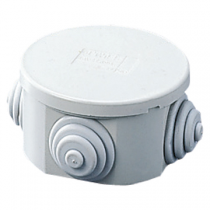 Gewiss GW44002 Junction Box with Plain Press-On Lid IP44, Internal Dimensions Ø 80x40, Walls with Cable Glands