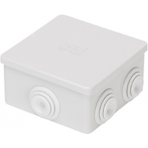 Gewiss GW44003 Junction Box with Plain Press-On Lid IP44, Internal Dimensions 80x80x40, Walls with Cable Glands