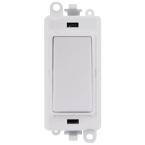 Scolmore GM2004PW GridPro® 20AX 2 Way Retractive Switch Module in White - Buy online or in store from John Cribb & Sons Ltd
