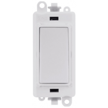 Scolmore GM2028PW GridPro® 20AX Intermediate Switch Module in White - Buy online or in store from John Cribb & Sons Ltd