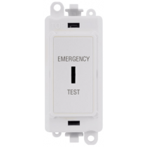 Scolmore GM2046PWET GridPro® 20A DP Key Emergency Test Module Switch in White - Buy online or in store from John Cribb & Sons Ltd