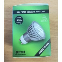 Deltech GU10-COBD6GRN High Power LED 6W Dimmable GU10 GREEN Spotlight bulb