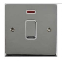 Schneider GU2511WPC Ultimate Low profile - 2-pole plate switch - 1 gang - chrome
