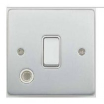 Schneider GU2513WBC Ultimate Low profile - 2-pole switch with flex outlet - 1 gang - chrome