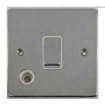 Schneider GU2513WPC Ultimate Low profile - 2-pole switch with flex outlet - 1 gang - chrome