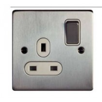 Schneider GU3510WBC Ultimate Low profile - switched socket - 1 gang - chrome