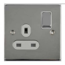 Schneider GU3510WPC Ultimate Low profile - switched socket - 1 gang - chrome