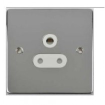 Schneider GU3580WPC Ultimate Low profile - unswitched socket - 1 gang - chrome, White polished Chrome
