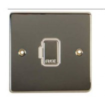 Schneider GU5500WPC Ultimate Low profile - unswitched fused connection - chrome