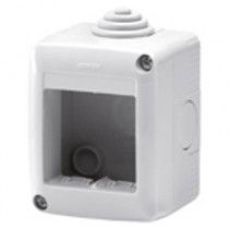 Gewiss GW27002 Enclosure, Surface Mounting Protected Empty 2G, System 40 Std, Size: 66x82x55mm