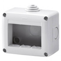 Gewiss GW27003 Enclosure, Surface Mounting Protected Empty 3G, System 40 Std, Size: 99x82x55mm