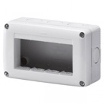 Gewiss GW27004 Enclosure, Surface Mounting Prot Empty 4G, System 40 Std, Size: 132x82x55mm