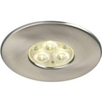 Collingwood Halers DL280BSWW H2 Lite 240V LED IP65 Fire-rated Downlight Brushed Steel 3000K