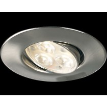 Collingwood Halers H4FF60BSWWDIM Adjustable Dimmable IP65 Fire-rated LED Downlight Brushed Steel 3000K