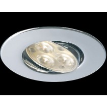 Collingwood Halers H4FF60CRWWDIM Adjustable Dimmable IP65 Fire-rated LED Downlight Chrome 3000K