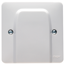 Hager Sollysta WMP2FO White Moulded Flex Outlet Plate 20A