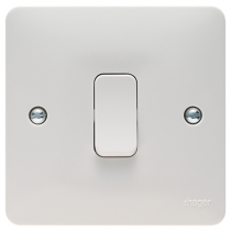 Hager Sollysta WMPS12 White Moulded 10AX 1 Gang 2 Way Wall Switch