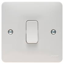 Hager Sollysta WMPS16 White Moulded Intermediate Switch