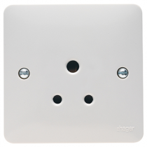 Hager Sollysta WMS51 White Moulded 5A 1 Gang Unswitched Socket