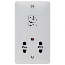 Hager Sollysta WMSO100 White Moulded 115/230 Volt Shaver Outlet