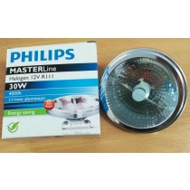 Philips MASTERline, HALOGEN 12V, R111, 30W, 4000h, 111mm aluminium