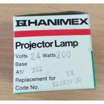 Hanimex A1/252, Projector Lamp, 24V 200W