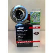 JCC JC94209BN Fireguard 240V 50Hz IP20 50W GU10 Eyeball Downlight in Brushed Nickel - Buy online or in store from John Cribb & Sons Ltd