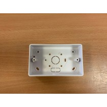 SCHNEIDER KBR322W, 2 Gang Surface Box, White Malleable Plastic Box with 20mm Knock Out, MITA - buy online from John Cribb & Sons Ltd