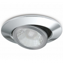 JCC JC1002/CH Fire-Rated V50 Tilt LED Downlight with Chrome Bezel - John Cribb & Sons Ltd