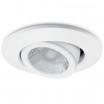 JCC JC1002/WH Fire-Rated V50 Tilt LED Downlight with White Bezel - John Cribb & Sons Ltd