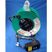 Schneider Electric Jojo JJR43013RCD 30m 13A  4 Socket Open Cable Reel c/w RCD Plug