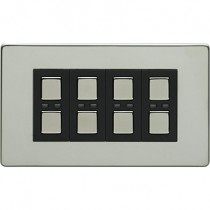 Megaman LightwaveRF JSJSLW440C 4 Gang Dimmer, Chrome