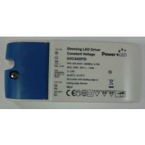 PowerLed UVC2425TD - 25W 24V 1.04A Constant Voltage Triac Dimming LED Driver for Flexible LED Strip, Load 2.5 - 25W (Previously known as LightwaveRF JSJSLW815)
