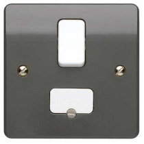 MK Logic K330GRA 13A DP Switched Fused, c/w Base Flex Outlet Connection Unit in Graphite -  Buy online or in store from John Cribb & Sons Ltd