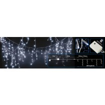 Blue LED Christmas Icicle Lights With Controller 240 LED 16m