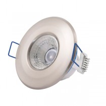Scolmore Inceptor LED5400SC5CD Downlight, Inceptor Nano5 Fixed W/W LED, Dimmable, Size: 4.8W 230V (Satin Chrome)