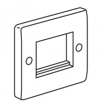 Legrand Synergy 730099 1 Gang 2 Euro Module Front Plate