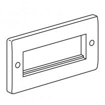 Legrand Synergy 730100 2 Gang 4 Euro Module Front Plate
